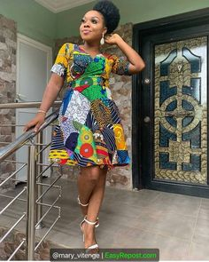 Beautiful Ankara short gown ideas we have for you is the most trending and stunning styles you should try out. African Print Dress Designs, African Print Skirt, African Print Dresses, African Wear, African Fashion Dresses, African Dress, African Prints, Ankara Fashion, African Lace