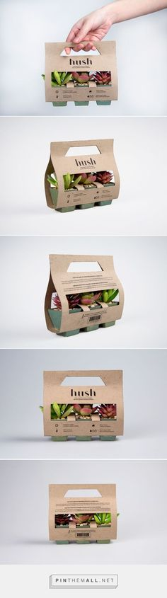 Simple, practical and beautiful packaging for succulents and cacti. Hush succulents and cacti company by Samantha Goh. Source: Behance. Pin curated by #SFields99 #packaging #design #inspiration #ideas #innovation #creative #structural #product #branding #plants #succulents #cacti