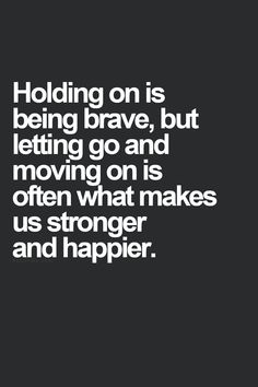 Read about this the other day. If you don't let go you will never gain control.