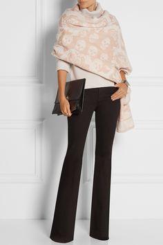 Alexander McQueen | Wool and cashmere-blend jacquard wrap | NET-A-PORTER.COM