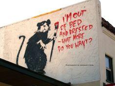 some days #streetart #bansky