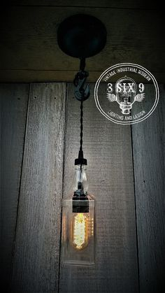 Industrial Upcycled Whiskey Single Hook Lighting by 8SIX9Design
