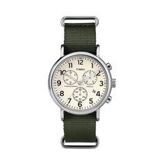 Timex - Weekender Chrono Wristwatch - Silver tone, Men's