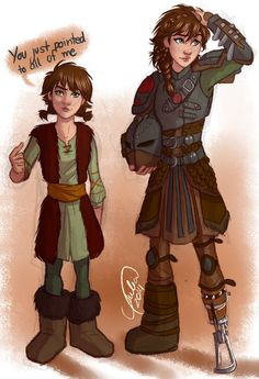 Omg I luv this!!! How to Train Your Dragon 1&2 genderbend! Hiccup would look pretty funny as a girl