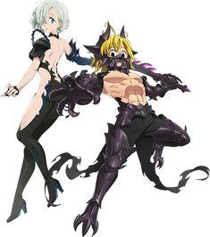 Video Game : Nanatsu no Taizai Hikari to Yami no Grand Cross. Anime Angel, Anime Demon, Seven Deadly Sins Anime, 7 Deadly Sins, Otaku Anime, Manga Anime, Animé Fan Art, Meliodas And Elizabeth, Arte Do Kawaii