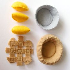 Felt Food Peach Pie Assembly Set Toy. $23.00, via Etsy.