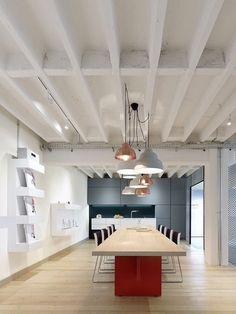 Gallery of Movet Office Loft Interior Design / Studio Alexander Fehre – 9 – Office Design 2020 Corporate Office Design, Design Studio Office, Loft Studio, Corporate Interiors, Loft Interior Design, Loft Design, Loft Interiors, Office Interiors, Industrial Office Space