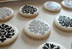 How to make stenciled cookies - SugarBelle