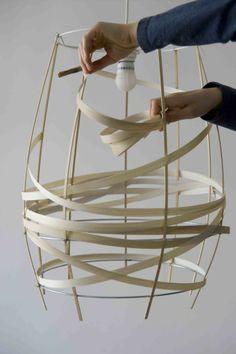 Lamp in fineerhout diy
