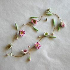 Not Crochet.. But nice idea to a necklace... Ulrike Ay...lovely felted flowers