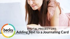 Digital Project Life: How to add text to a journaling card - YouTube