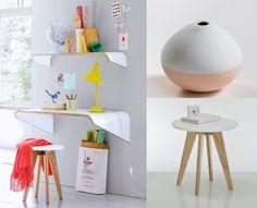 Bureau jenny blanc et chêne design scandinave but deco