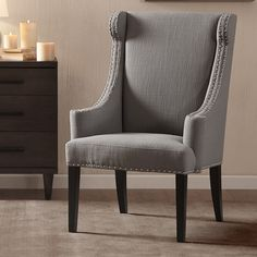 Madison Park Marcel High Back Wing Arm Chair U0026 Reviews | Wayfair