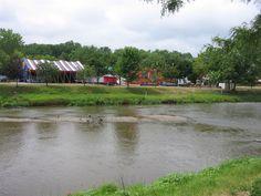 Baraboo River through Circus World Museum, near Baraboo, Wisconsin