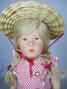 Vintage 1950s Kathe Kruse Doll 19 inch German Child 52H