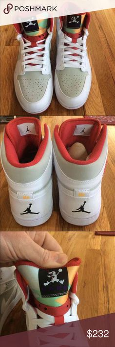 "Men's Jordan Retro 1 Bugs Bunny ""hare"" edition 100% authentic hare Jordan 1's. Original box. These sold out quick when they dropped!  Feel free to ask any question and check out my other listings. ❗️No Trades❗️Posh Transactions Only ❗️ Use offer Button ❗️ Jordan Shoes Sneakers"