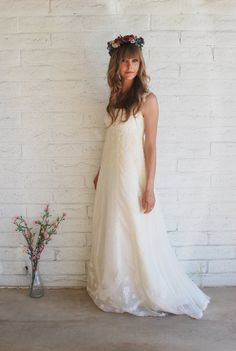 Boho Wedding dress  ... For a Wedding Dress Guide & wedding ideas for brides, grooms, parents & planners ... https://itunes.apple.com/us/app/the-gold-wedding-planner/id498112599?ls=1=8 ♥  http://pinterest.com/groomsandbrides/boards/ ♥