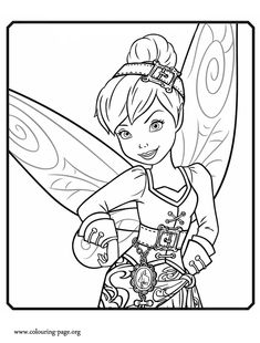 Another beautiful coloring page from Disney movie The Pirate Fairy. In this Disney Fairies movie, Tinker Bell becomes a water fairy. Enjoy!