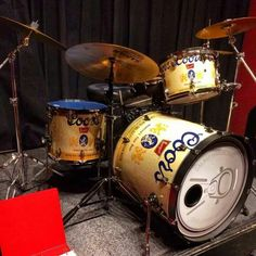 Coors Cans drum set