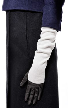 Long Leather and Cashmere-Blend Gloves by Nina Ricci - Moda Operandi