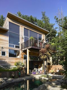 Mill Valley Residence by Yamamar Design Contemporary Cottage, Interior Exterior, Interior Architecture, Cool Ideas, Modern Design, Home And Family, Define Public, Beautiful Homes, Deck Design