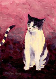 acrylic cat painting~Breaking Up The old Anticipating A New One~ divorce celebration, gift  #jingfenhwu
