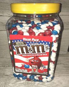 M&M's Milk Chocolate Candies Red White & Blue Mix Patriotic Americana Jumbo M & M Chocolate, Chocolate Candies, Chocolate Flavors, Cereal Recipes, Snack Recipes, Snacks, M&s Chocolates, Yummy Treats, Yummy Food