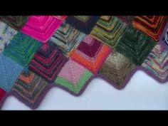Knitting Blooms Tutorial Sock Yarn Blanket The Start