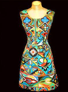 Vintage Emilio Pucci Dress vintage Pucci geometric print