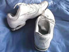 10a122e11ceac7 Women s Nike Air Exceed Leather Training Shoes White Silver Size 9  Nike   TrainingShoe Training
