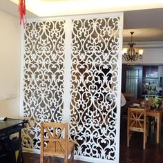Customized European-style hollow screen wind off the partition carved flower floor living room background wall modern partition wall living room Living Room Partition Design, Room Partition Designs, Jaali Design, Room Divider Screen, Living Room Background, Glass Cabinet Doors, Pooja Rooms, Ceiling Design, Interior Decorating