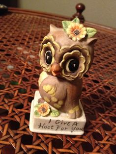 Vintage owl figurine