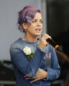 Singer Lily Allen also signed the letter urging the Prime Minister to cancel Donald Trump'...