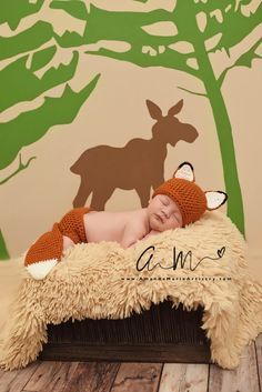 Baby Fox Outfit - Crochet Fox Set - Fox Hat - Baby animal hat - newborn photo prop - character hat - crochet baby outfit - Costume by BitofWhimsyCrochet on Etsy https://www.etsy.com/listing/285986435/baby-fox-outfit-crochet-fox-set-fox-hat