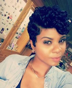 The Cut Life thecutlife Dope Hairstyles, Cute Hairstyles For Short Hair, My Hairstyle, Curly Hair Styles, Natural Hair Styles, Pixie Styles, Short Styles, Latest Hairstyles, Short Sassy Hair
