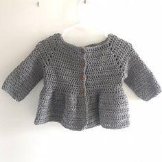 PATTERN: Penelope Cardigan Baby Infant Toddler crochet | Etsy Peplum Top Pattern, Knitting Patterns, Crochet Patterns, Super Bulky Yarn, Wearable Blanket, Knitting Videos, Chunky Yarn, Crochet Shawl, Digital Pattern