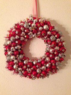 kerstkrans maken van kerstballen - Google zoeken