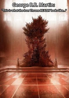 What the Iron Throne really looks like