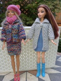 Barbies Autumn Outfit Easy knitting pattern on Ravelry ♡