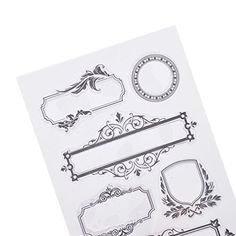 Lychee DIY Stempel Rahmen Form Transparent Basteln Handarbeit Kartenkunst Dekor