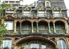 Art Nouveau in Paris Turin, Photo Blend, Health Drinks Recipes, Art Nouveau Architecture, Deck Plans, Le Havre, France, Art Studios, Big Ben