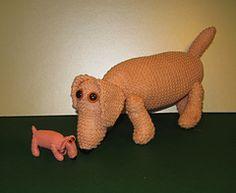 Ravelry: Big Wiener,Weeny Wiener toys pattern by Christine Grant