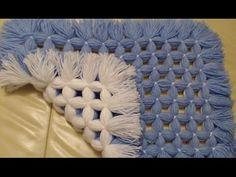 Pom pom blanket. Easy tutorial The NON pom pom blanket. - YouTube