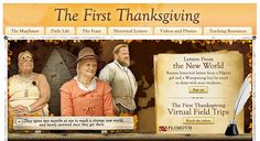 The First Thanksgiving Student Activities for Grades First Thanksgiving, Plymouth Colony, Read Letters, Virtual Field Trips, Classroom Management, How To Introduce Yourself, Social Studies, Holiday Fun