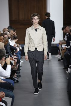 blouson shirt jacket   Officine Generale Spring 2017 Menswear Fashion Show