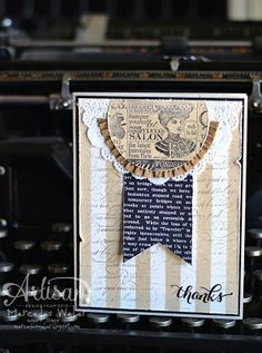 Creations by Mercedes: Artisan Wednesday Wow - Love the idea of using the stencils from the Build a Banner Kit on cards too!