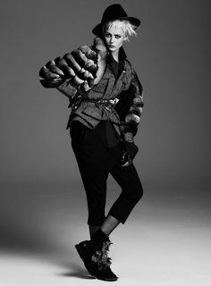 Publication: Flair Magazine Issue: Fall 2013 Title: Punk Attitude Model: Frida Gustavsson Photography: Steven Pan Styling: Sissy Vian Hair: Nicolas Jurnjack Make-up: Violette