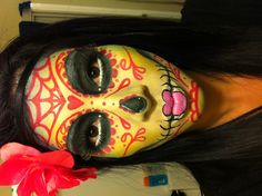 Day of the dead makeup by me @Christina Martinez