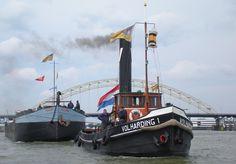 Stoomsleper de Volharding I zal met passagiers in de Dokken van 'A' rondvaren tijdens Water-rAnt. www.Water-rant.be