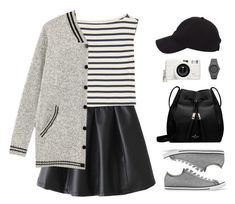 """""""Baseball Cap Style"""" by sweetpastelady ❤ liked on Polyvore featuring Yves Saint Laurent, Converse, Lomography, Kate Spade and CC"""